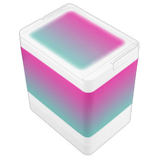 Magenta Purple & Teal Ombre Drink Cooler
