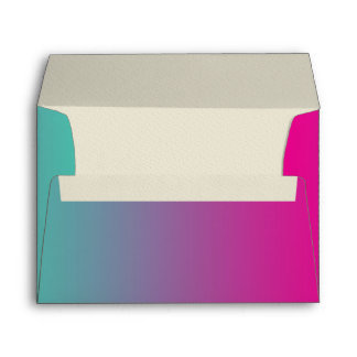 Magenta Purple & Teal Ombre Envelope