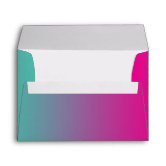 Magenta Purple & Teal Ombre Envelope
