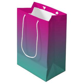 Magenta Purple & Teal Ombre Medium Gift Bag