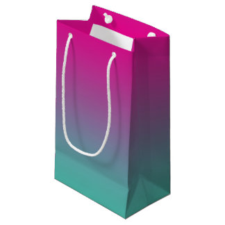 Magenta Purple & Teal Ombre Small Gift Bag
