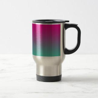 Magenta Purple & Teal Ombre Travel Mug