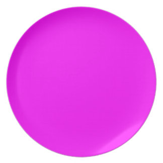 magenta purple template to personalize Customize Dinner Plate