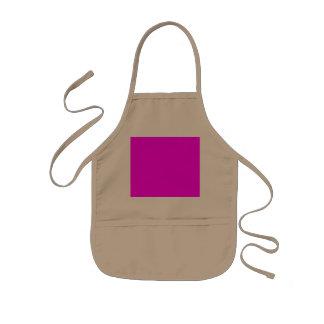 magenta purple template to personalize Customize Kids' Apron