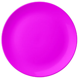 magenta purple template to personalize Customize Porcelain Plate