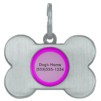 magenta purple template to personalize Customize Pet ID Tag