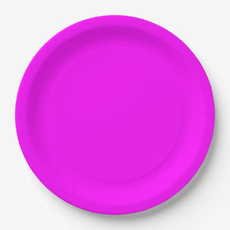 magenta purple template to personalize Customize 9 Inch Paper Plate