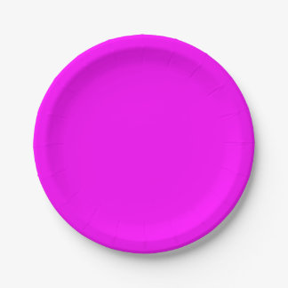magenta purple template to personalize Customize 7 Inch Paper Plate