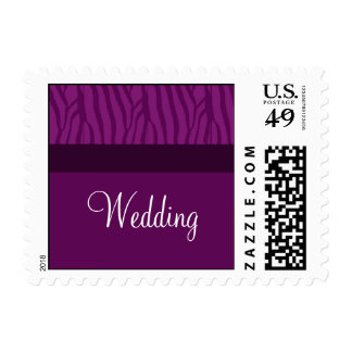 Magenta Purple Wedding Postage