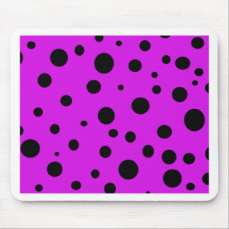 Magenta Purple with Black Polka Dots Products Mouse Pad