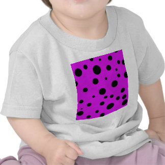 Magenta Purple with Black Polka Dots Products Tees