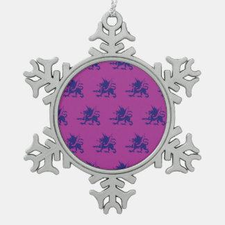 Magenta púrpura de los dragones adornos