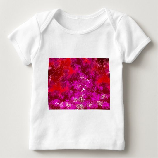 Magenta Red & Purple Abstract Baby T-Shirt