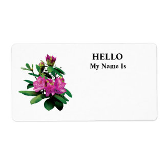 Magenta Rhododendrons With Buds Shipping Label