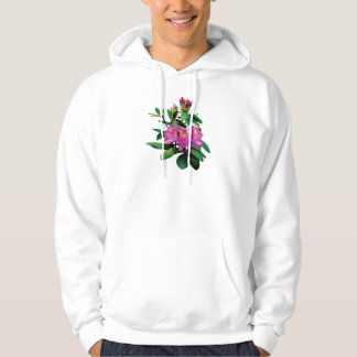 Magenta Rhododendrons with Buds Mens Hoodie