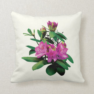 Magenta Rhododendrons With Buds Throw Pillow
