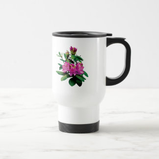 Magenta Rhododendronswith Buds 15 Oz Stainless Steel Travel Mug