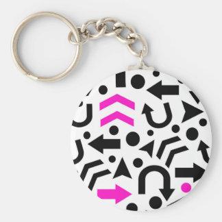 Magenta right direction keychain