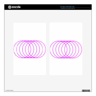 Magenta Rings Decals For Kindle Fire