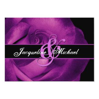 Magenta Rose Wedding Template 5x7 Paper Invitation Card