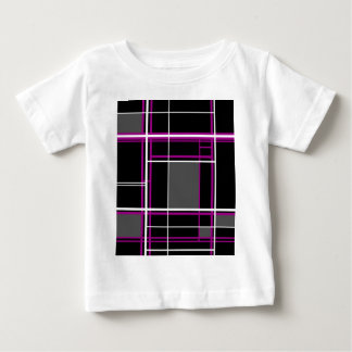 Magenta simple lines baby T-Shirt
