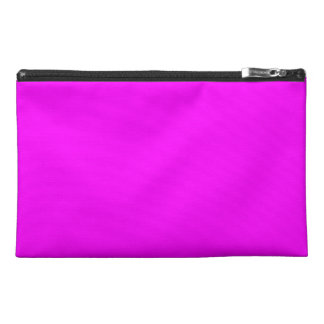 Magenta Solid Color Travel Accessory Bag