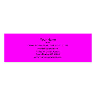 Magenta Solid Color Double-Sided Mini Business Cards (Pack Of 20)