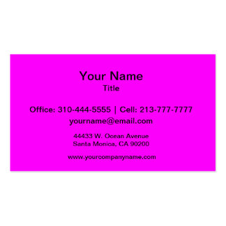 Magenta Solid Color Double-Sided Standard Business Cards (Pack Of 100)
