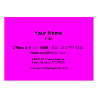 Magenta Solid Color Large Business Cards (Pack Of 100)