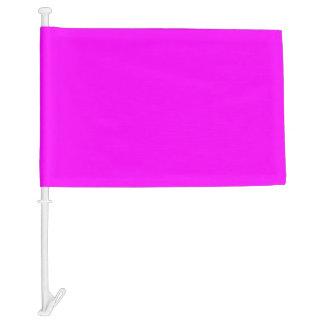 Magenta Solid Color Car Flag