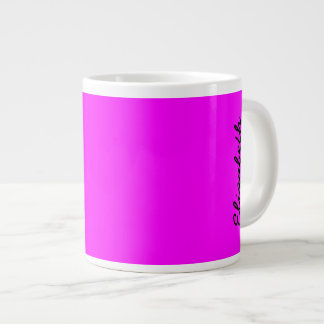 Magenta Solid Color Giant Coffee Mug