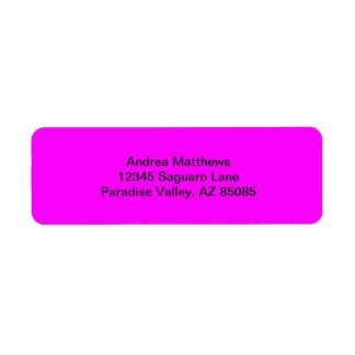 Magenta Solid Color Label