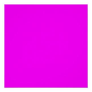 Magenta Solid Color Poster