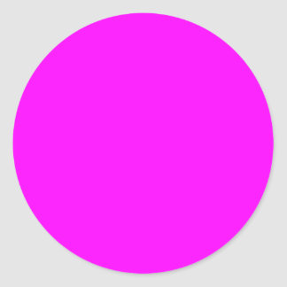 Magenta Solid Color Round Stickers