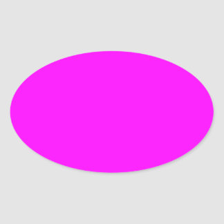 Magenta Solid Color Oval Sticker