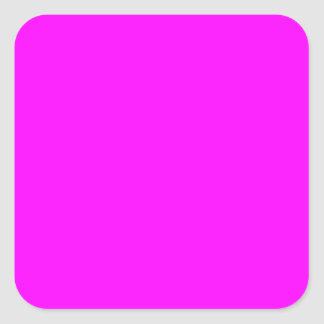 Magenta Solid Color Square Stickers