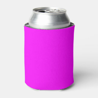 Magenta Solid Color Can Cooler