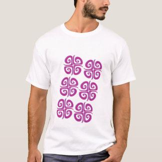 Magenta Spiral Crosses T-Shirt