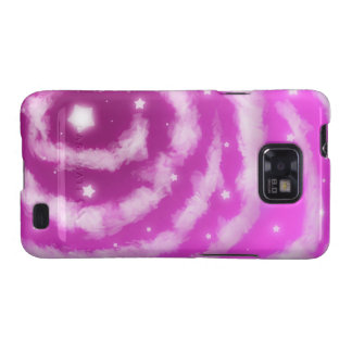 Magenta Star Clouds Samsung Galaxy S Case Samsung Galaxy S2 Cover