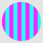 Magenta Striped Sticker
