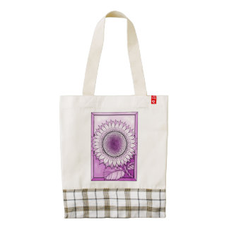 Magenta Sunflower Zazzle HEART Tote Bag