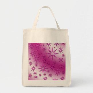 Magenta suns seamless pattern canvas bag