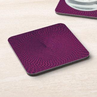 Magenta Swirl Beverage Coaster