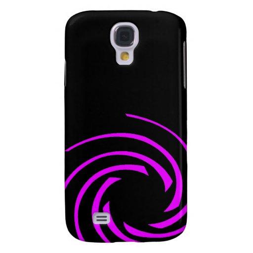 Magenta Swirling Vortex Samsung Galaxy S4 Case