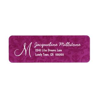 MAGENTA Textured Monogram M Address Label