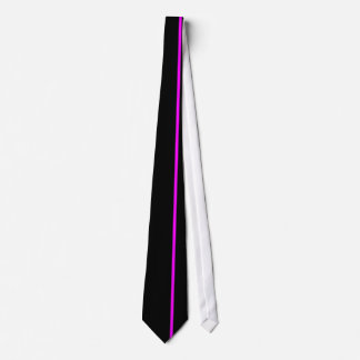Magenta Thin Vertical Line on Black Offset Right Tie