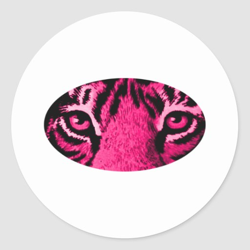 Magenta Tiger Eyes The MUSEUM Zazzle Gifts Round Sticker