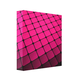 Magenta Tiles Canvas Print