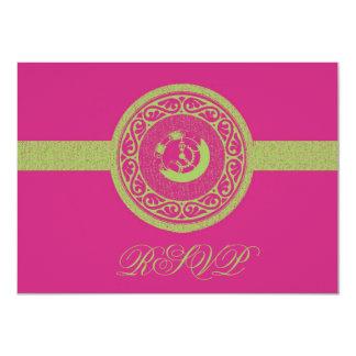 Magenta Time Medallion RSVP Card