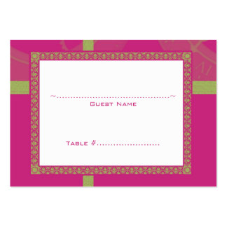 Magenta Time Medallion Wedding Seating Card Large Business Cards (Pack Of 100)